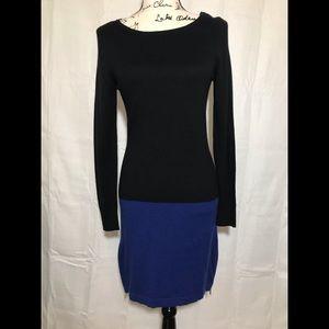 Michael Kors Knit Dress goldtone side zippers